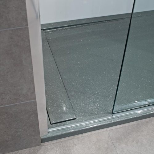 Roman Infinity shimmer grey 1000mm x 800mm shower tray