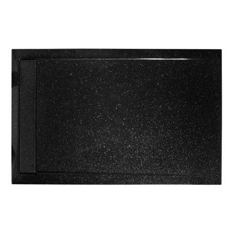 Roman Infinity shimmer black 1200mm x 900mm shower tray