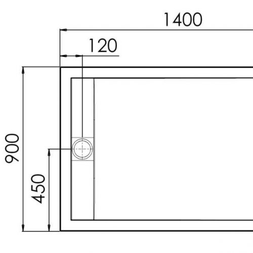 Roman Infinity gloss white 1400mm x 900mm shower tray