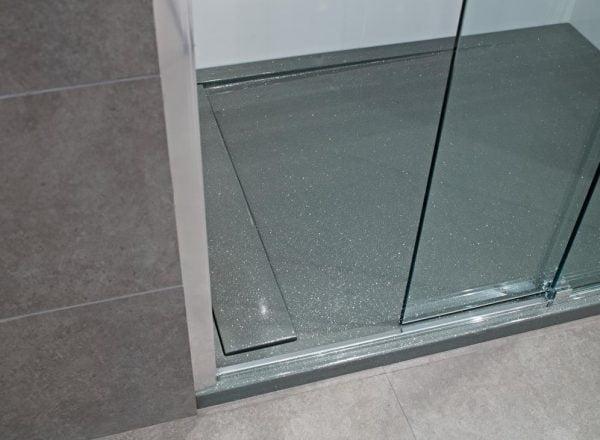Roman Infinity shimmer grey 1600mm x 800mm shower tray
