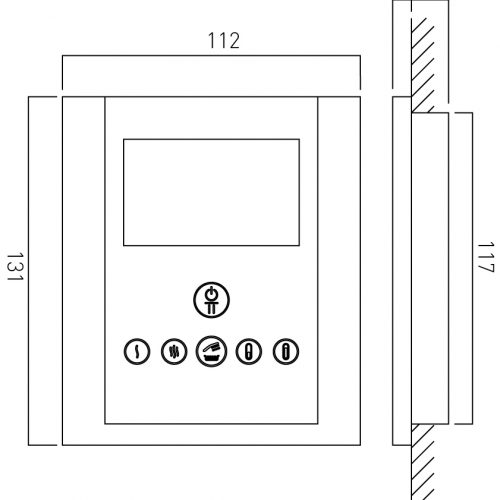 Vado Identity digital shower valve & diverter IDE-147B-C/P