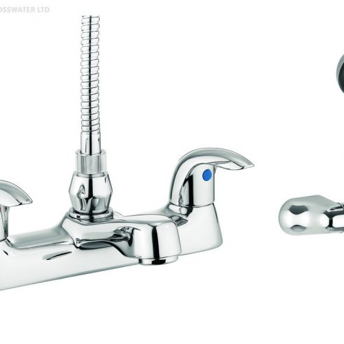 Adora Sky Flat Bath Shower Mixer Tap in Chrome MBSY422D