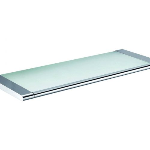 Ludo Bathroom 52cm Glass Shelf with a chrome edge 970171