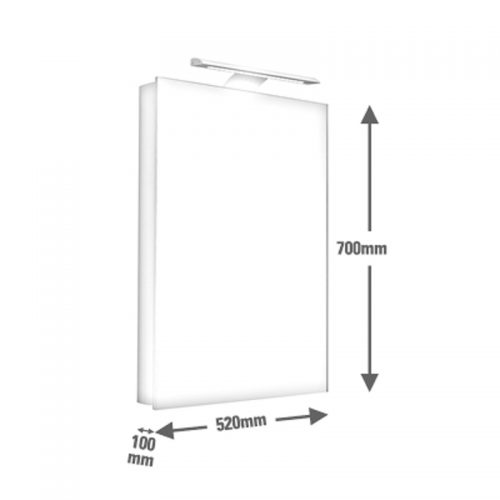 Saneux ICE 50cm wall mounted mirror cabinet 1051R