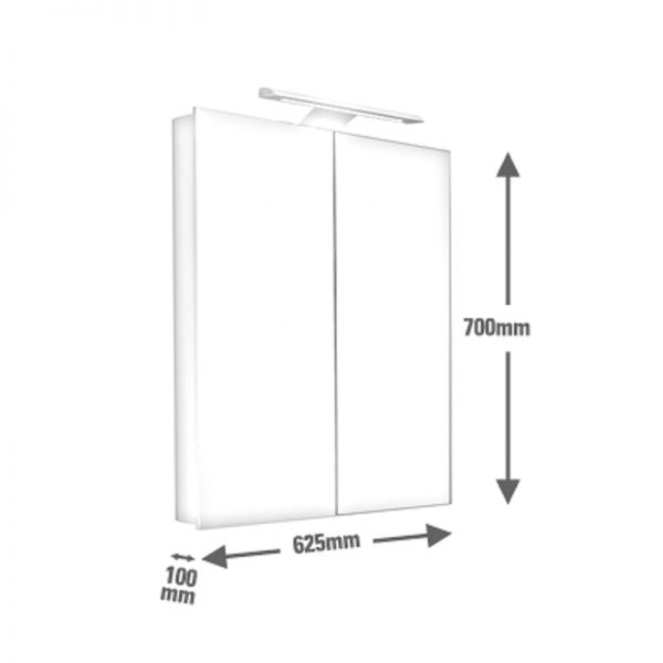 Saneux ICE 60cm wall mounted mirror cabinet 1061