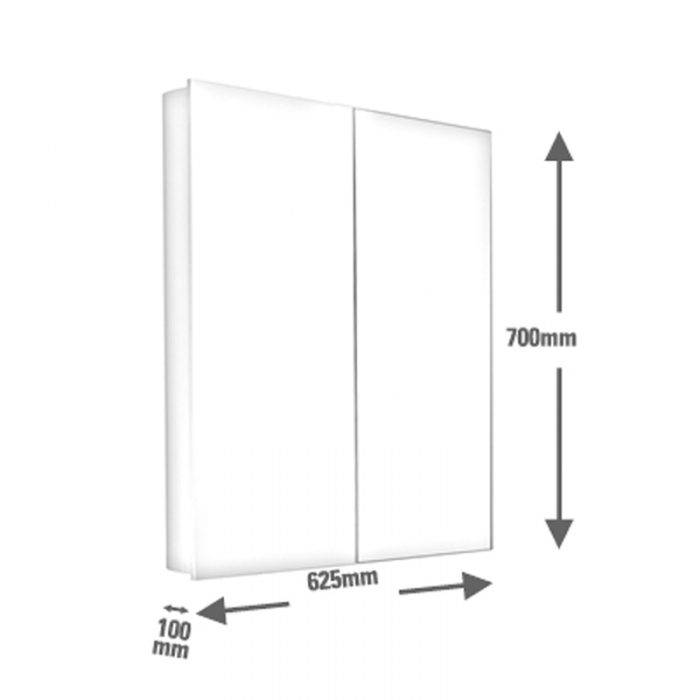 Saneux ICE 60cm wall-mounted mirror cabinet 1062