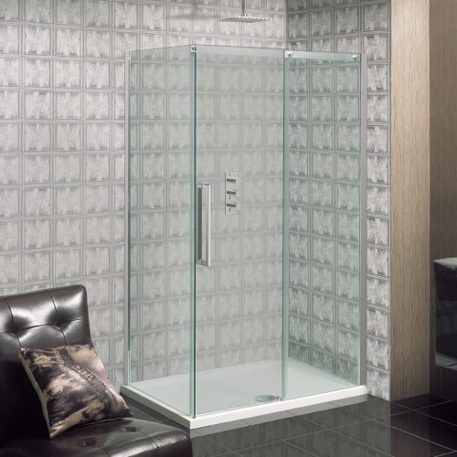 Crosswater Ten Side Panel ONLY Silver 800mm 10800PANEL
