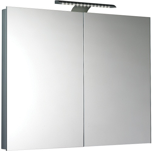 Saneux Ice 90cm Wall Mounted Mirror Cabinet and Shaver