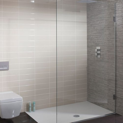 Simpsons Ten 900mm 10mm Single Fixed shower panel 1030900-0