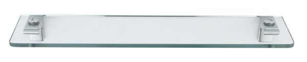 Sonia Eletech Bathroom Glass Shelf 53cm in Chrome 113590