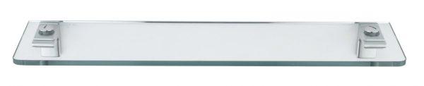 Sonia Eletech Bathroom Glass Shelf 53cm in Chrome 113590