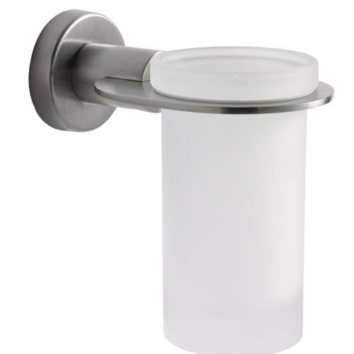 Sonia Tecno Brushed Stainless Steel Tumbler Holder 122387