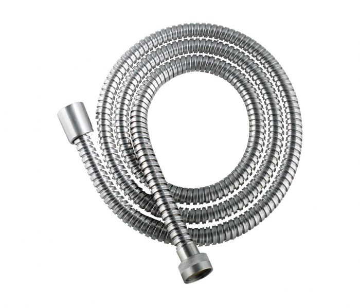 brushed stainless steel shower hose image