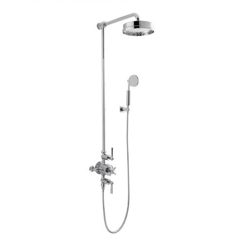 "Waldorf Chrome Lever Thermo Valve With 12"" Head And Handset"