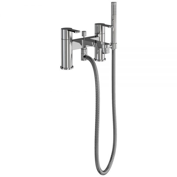 Clearwater Crystal Chrome Bath Shower Mixer 125.CTA7