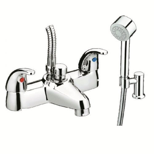 Just Taps Plus Two Lever Astra D/M Bath/Shw Mixer 13275