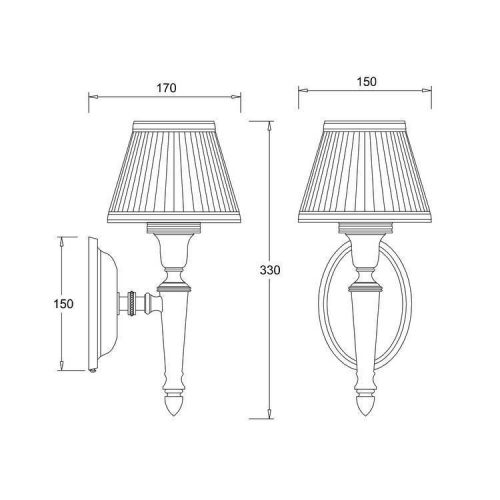 Arcade Oval Base Light With Fine Pleat Shade