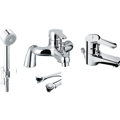 Just Taps Plus Opal Pillar S/LVR Bath Shower Mixer 15119M