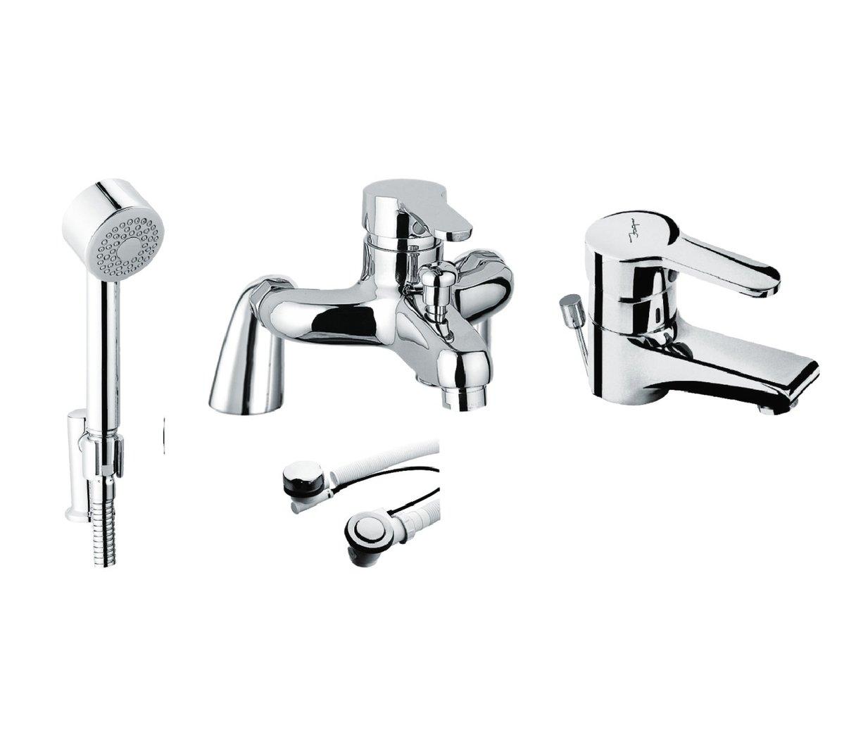 Just Taps Plus Opal Pillar S/LVR Bath Shower Mixer 15119M