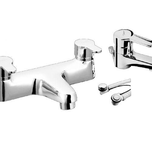 Just Taps Plus Opal Bath Filler+Single Lever+Mixer 15223M