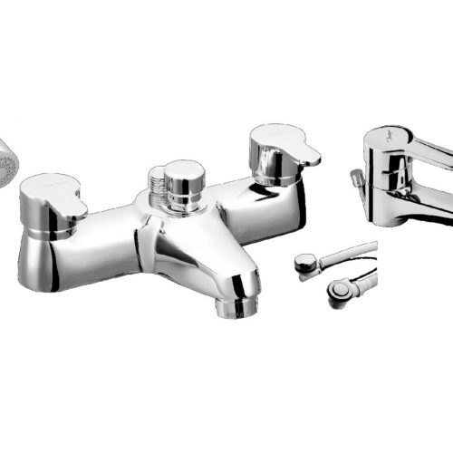 Just Taps Plus Opal Bath Shower Mixer and Kit 15275M