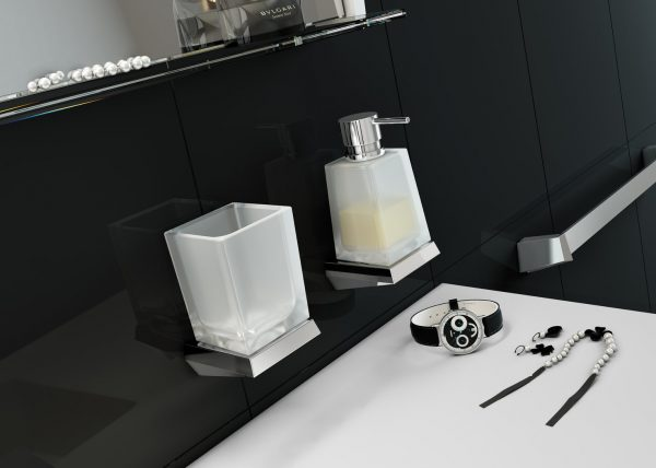 Sonia S8 Modern Chrome Bathroom Tumble Holder 161812