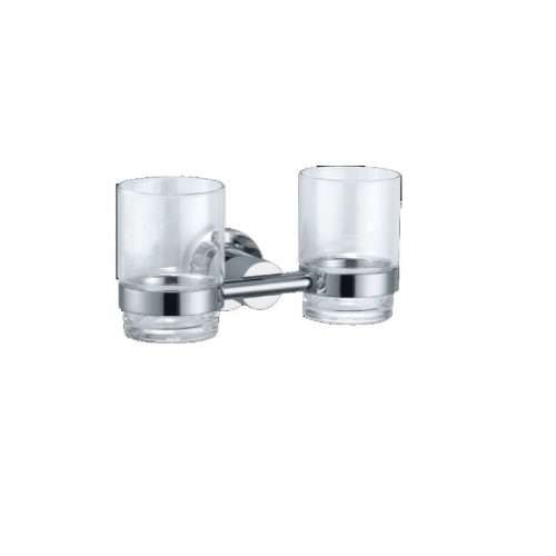 Just Taps Plus Cora Double Tumbler Holder C.P 180142