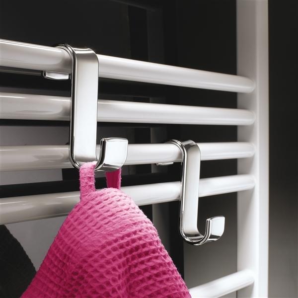 Gedy Chrome Robe Hook for a Bathroom Heated Towel Rail 2025-13