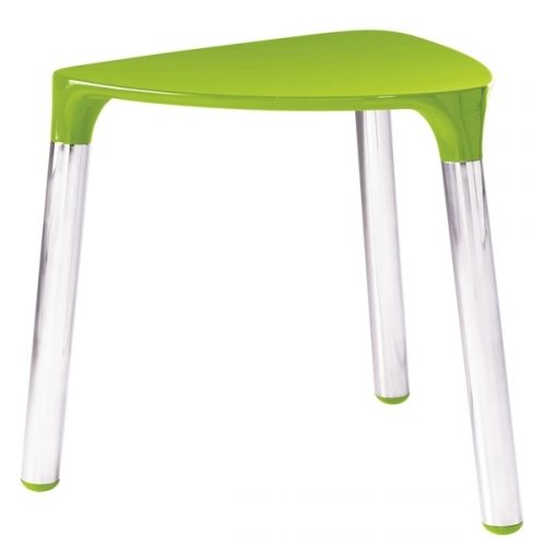 Gedy Yannis Bathroom Stool Green and Chrome 2172-04