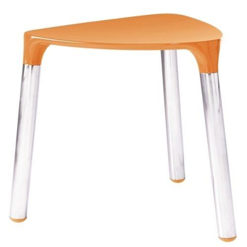 Gedy Yannis Funky Bathroom Stool Orange an Chrome 2172-67