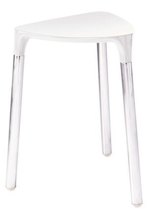 Gedy Yannis Stool in Wenge Faux Leather & Chrome 2172-E9