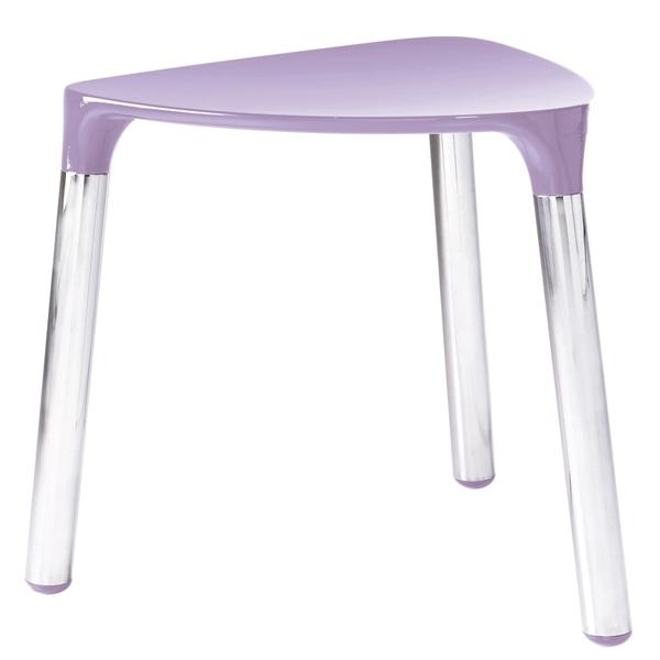 Gedy Yannis Small Bathroom Stool Lilac an chrome 2172-79
