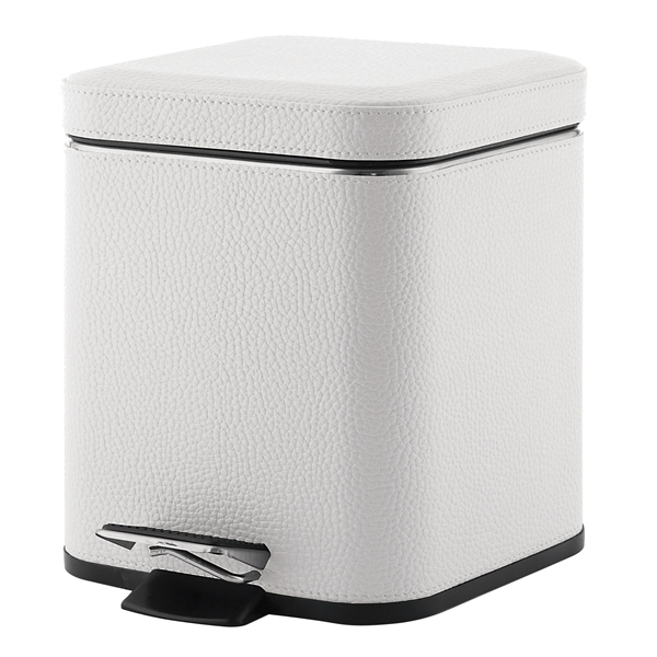 Gedy 3L Pedal Bin Soft Close faux White Leather 2209-02