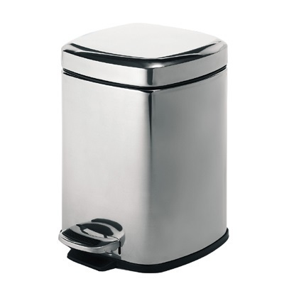 Gedy 3L square bathroom pedal bin soft close 2209-13