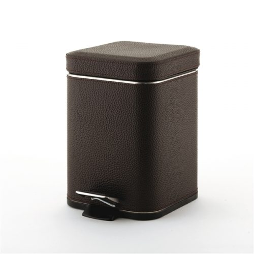 Gedy 3L Bathroom Pedal Bin Soft Close in Wenge 2209-19
