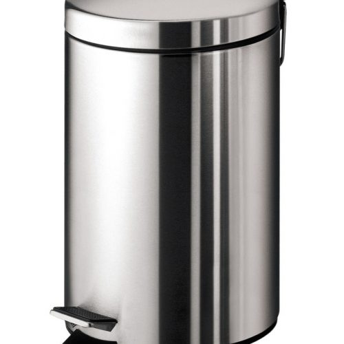 Gedy 3L Small Bathroom Shiny Chrome Pedal Bin 2609-13-0