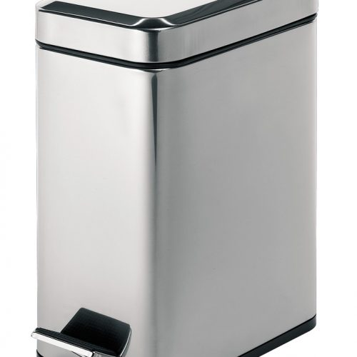 Gedy 5L Slim Narrow Rectangular Bathroom Pedal Bin 2909-13-0