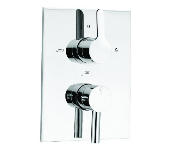 Just Taps Plus Thermo Concealed Bath+Shower Valve 29671
