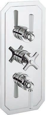 Waldorf White Lever 3 Way Thermostatic Valve WF3000RC_LV+
