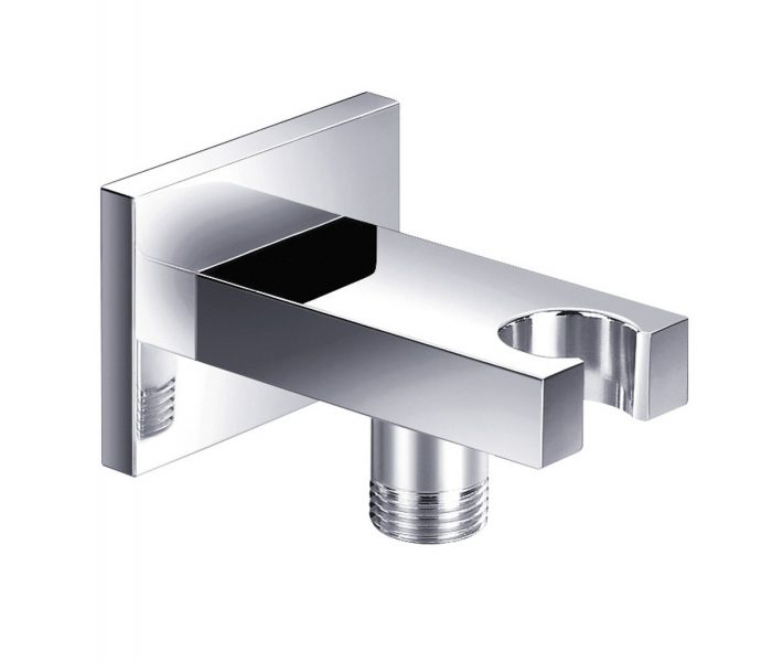 Just Taps Plus Square Minimalist Wall Outlet And Holder 30212