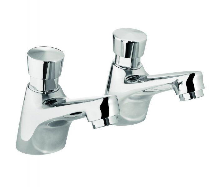 A Pair of Just Taps Plus non concussive basin taps