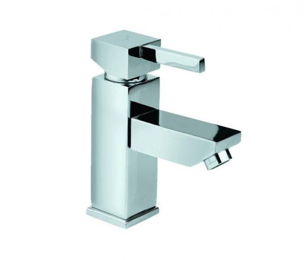 Just Taps Plus Square mini basin mixer no waste 35161