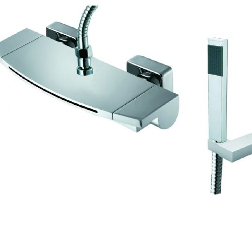 Just Taps Plus Flow Wall Bath Shower Mixer And Kit 43267