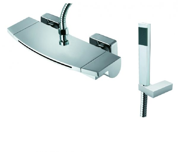 Buy Online Just Taps Plus Flow Wall Bath Shower Mixer And Kit 43267