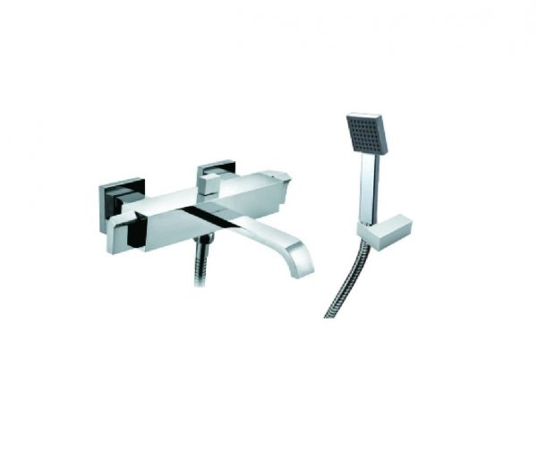 Just Taps Plus Leo Wall Bath Shower Mixer And Kit 45267