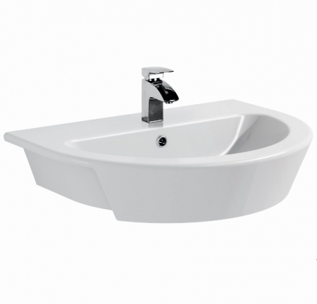 Saneux Austen 54 x 42cm 1 TH Semi Recessed Washbasin 50019