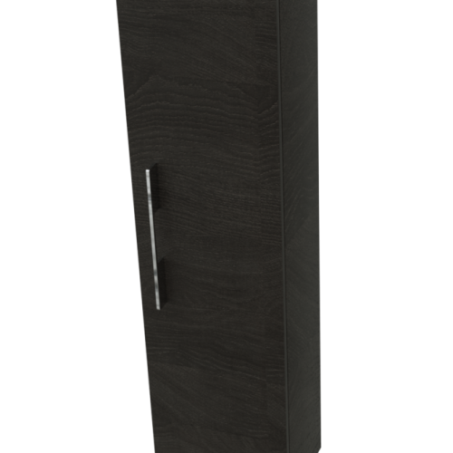 Saneux AUSTEN Tall Dark Brown Bathroom Storage Unit
