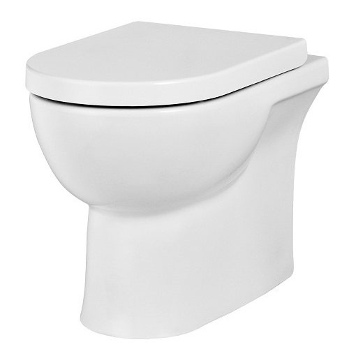 Saneux Austen Back To Wall Toilet inc Soft Close Seat 50074 50073-0