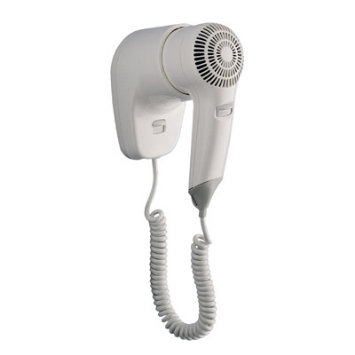 Gedy Zefiro Wall Mounted Bathroom Hair Dryer White 5053-02