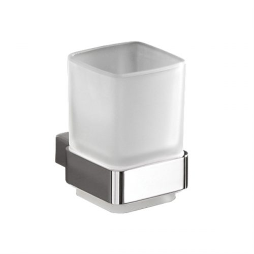Gedy Lounge Square Glass Bathroom Tumbler Holder 5410-13